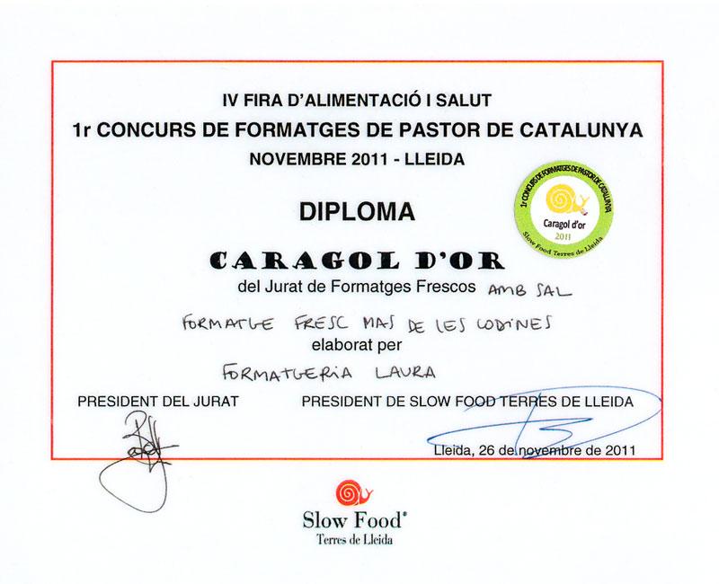 diploma-caragol-dor